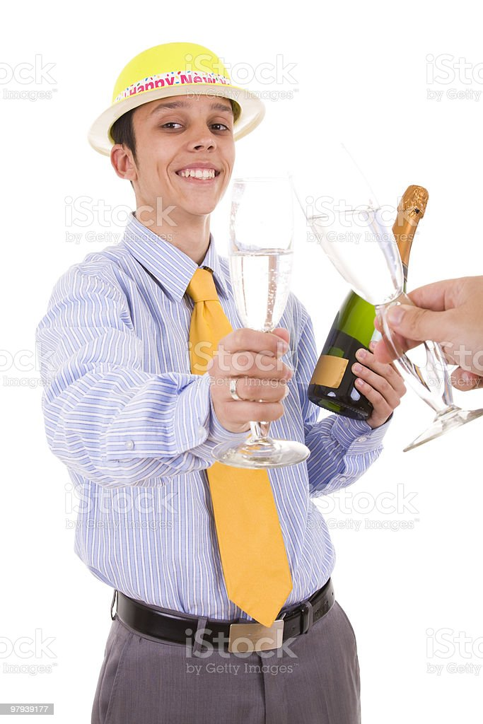young businessman making a toast royalty-free stock photo