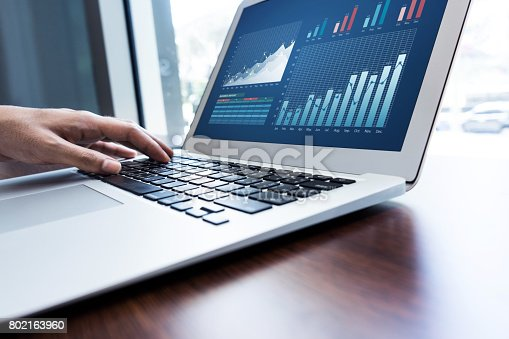 istock Young businessman multitasking using laptop.working concepts 802163960