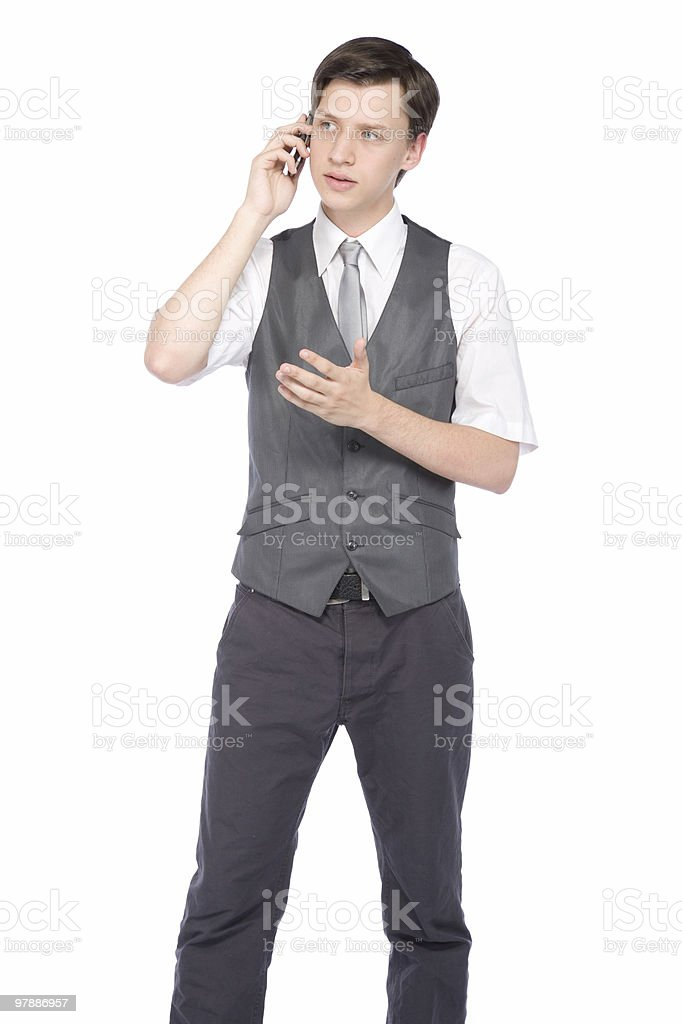 Young Businessman On The Phone royalty-free stock photo