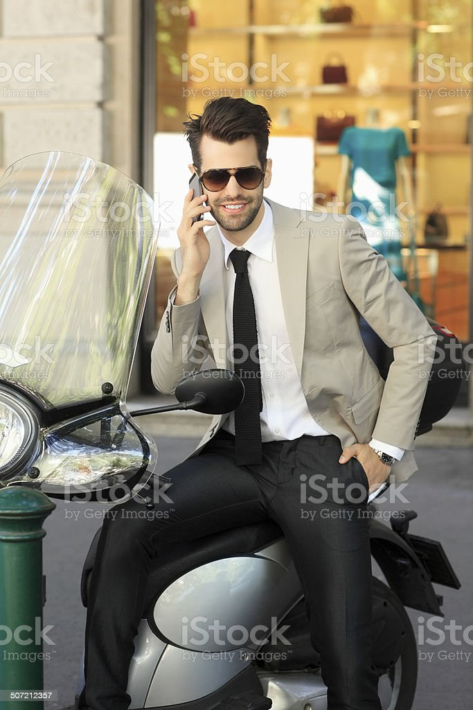 Young businessman portrait stock photo