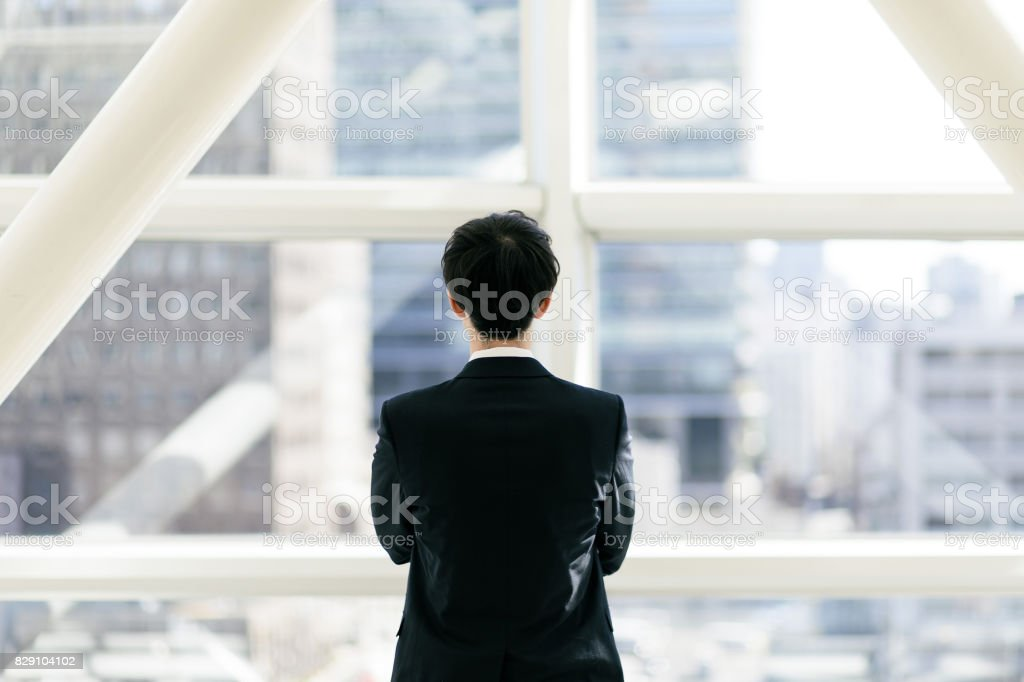 young businessman portrait. stock photo