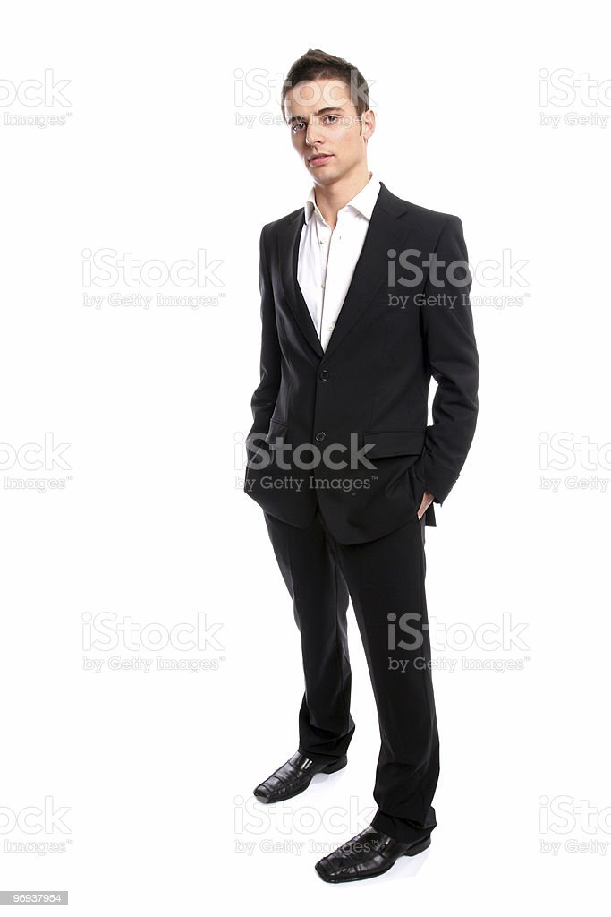 Young Businessman posing royalty-free stock photo