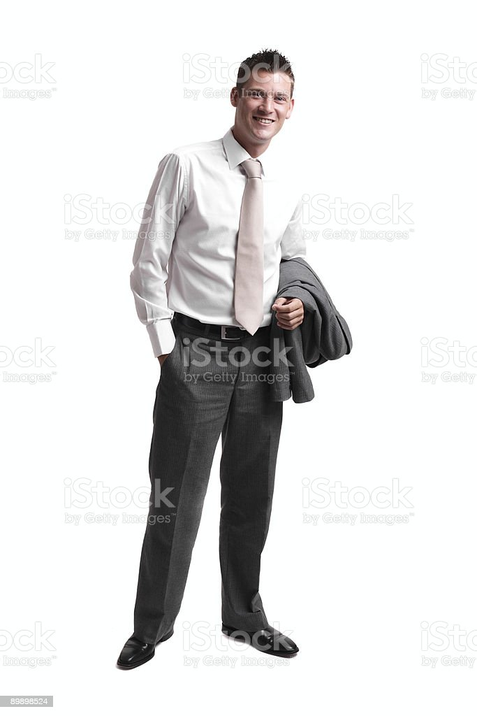 Young businessman relaxed after work royalty-free stock photo