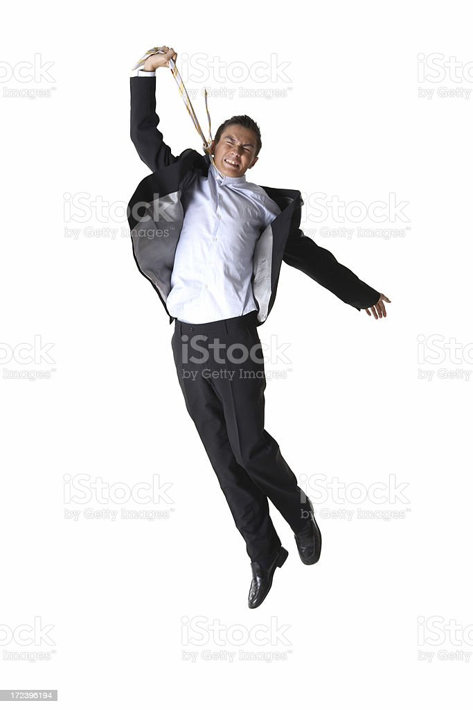 Young Businessman Self Hang royalty-free stock photo