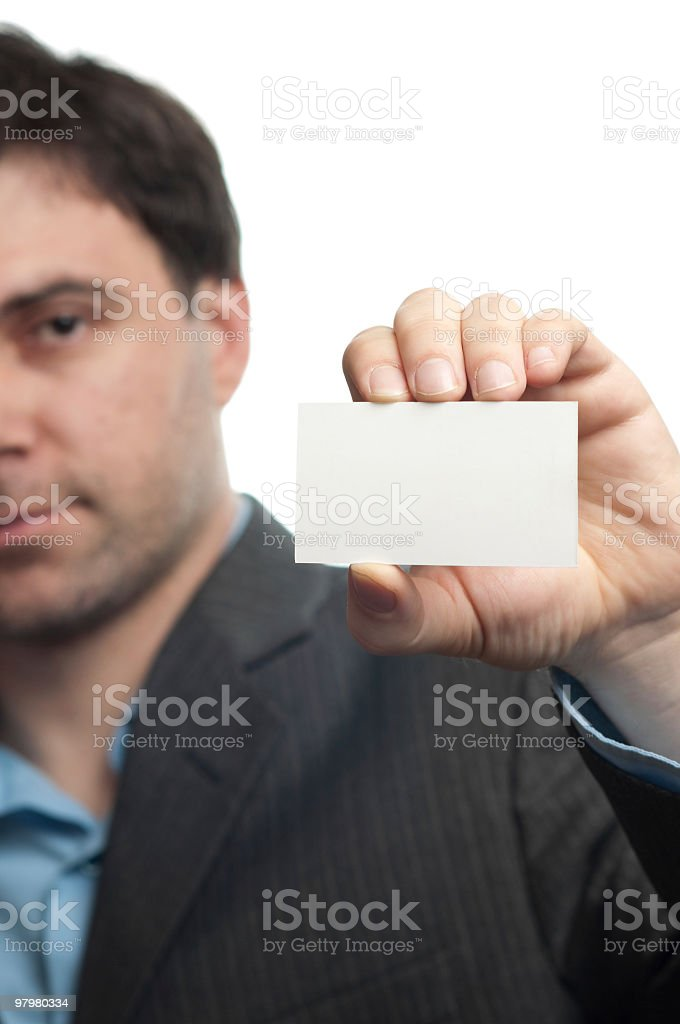 Young businessman showed his business card royalty-free stock photo