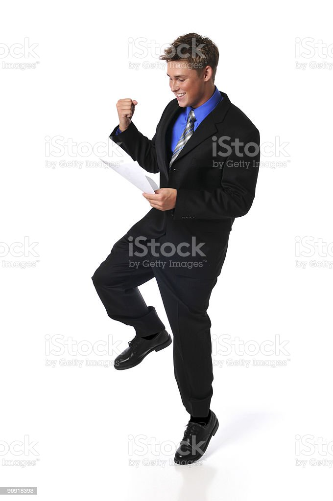 Young businessman showing excitement royalty-free stock photo