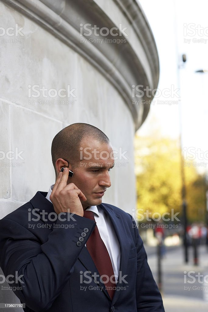 Young businessman takes a call royalty-free stock photo