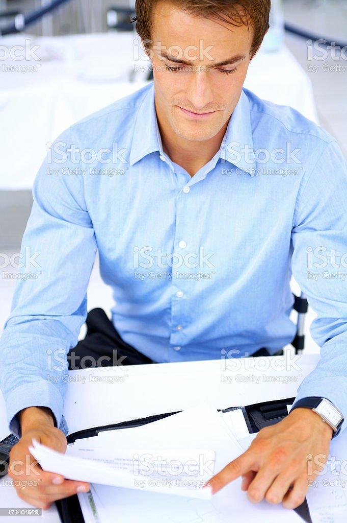 Young businessman taking notes royalty-free stock photo
