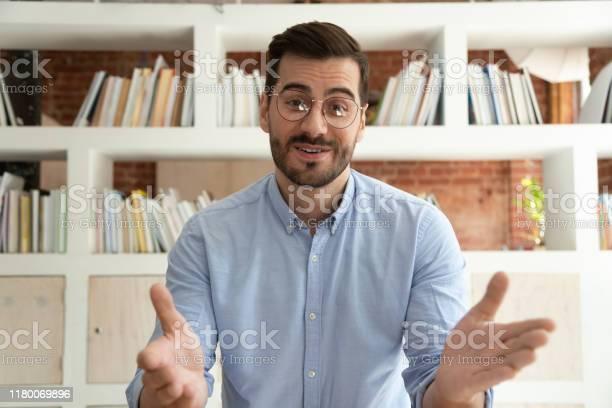 Young businessman talk on webcam having video call picture id1180069896?b=1&k=6&m=1180069896&s=612x612&h=dzhzyj1adiorc wg rculgjtqhlephmcmogk3pdo5b8=