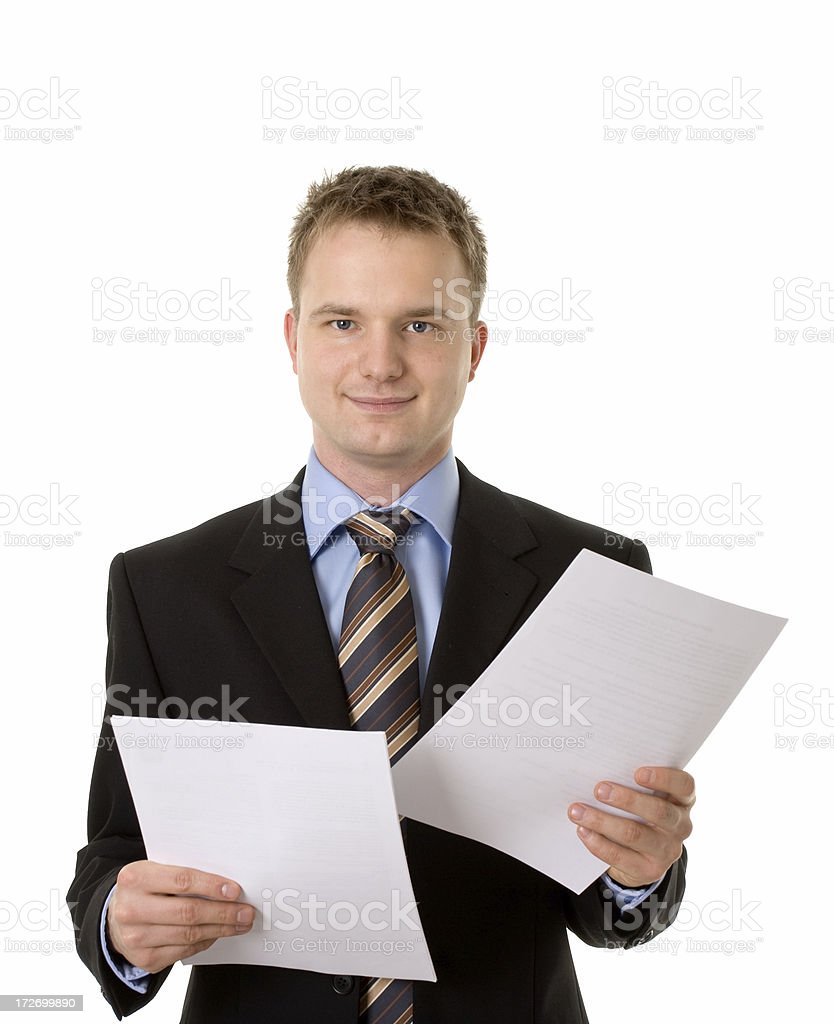 young businessman with documents royalty-free stock photo