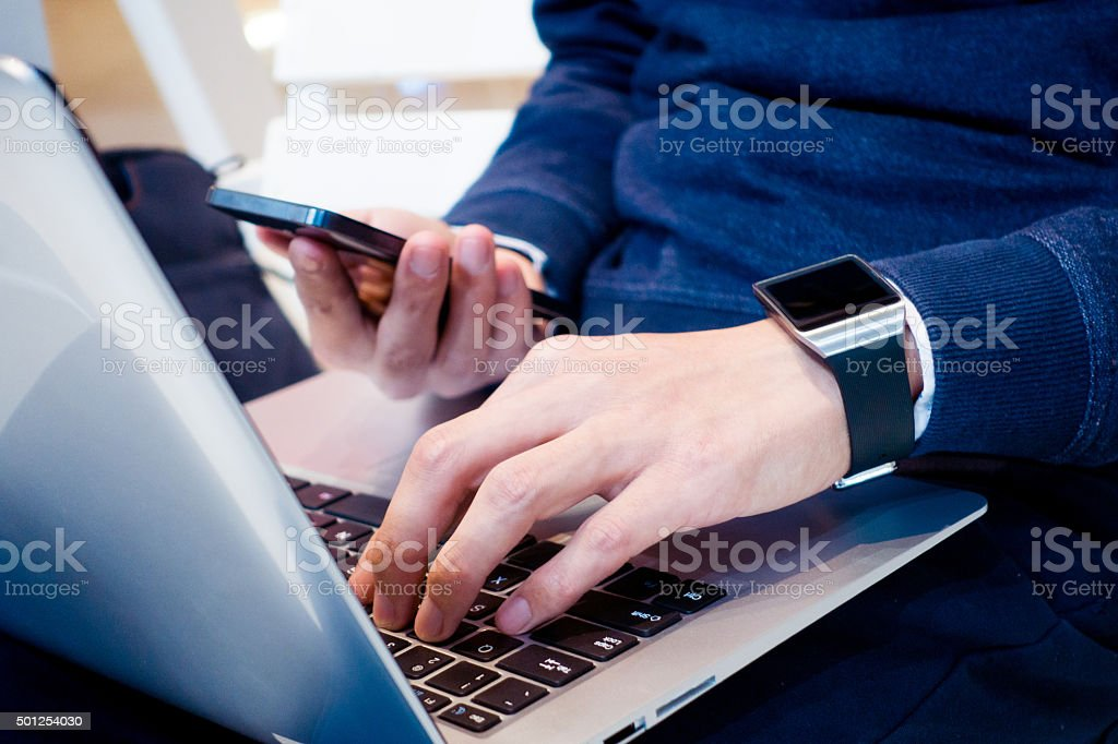 Young businessman working royalty-free stock photo