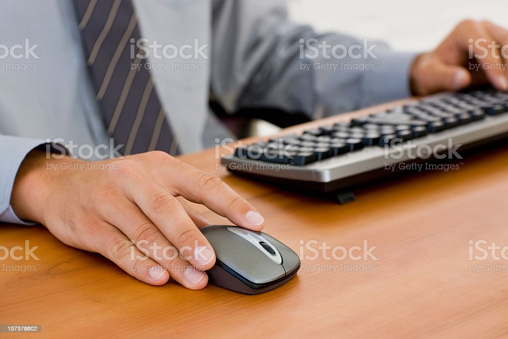 Young businessman working with his computer royalty-free stock photo