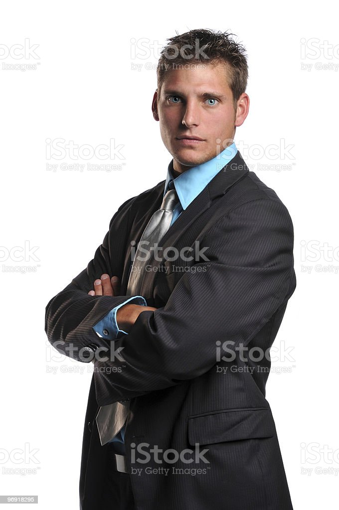 Young businessman's portrait royalty-free stock photo