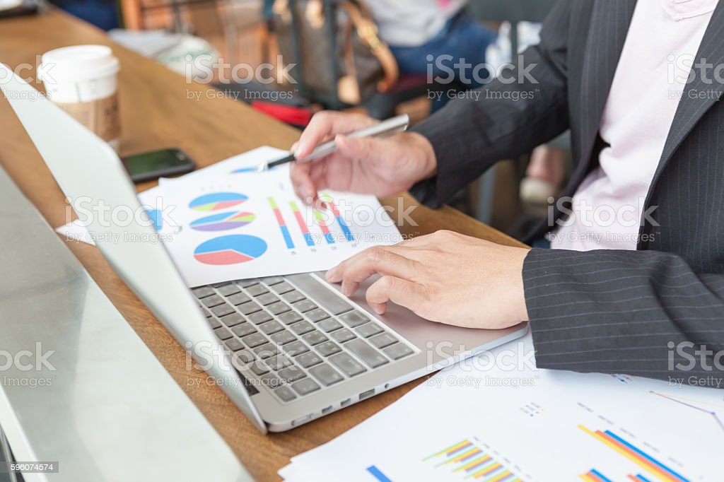 Young businessmen using Notebook. royalty-free stock photo