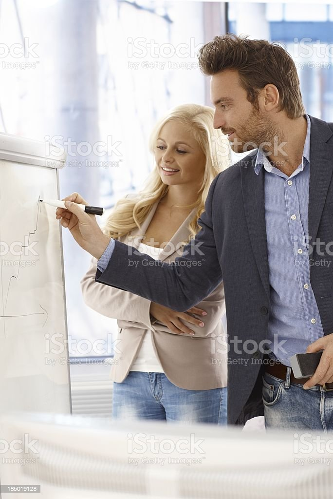 Young businesspeople working royalty-free stock photo