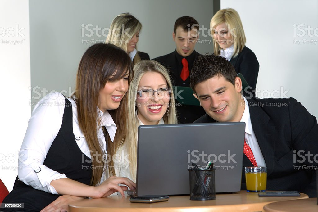 Young businesspeople working together royalty-free stock photo