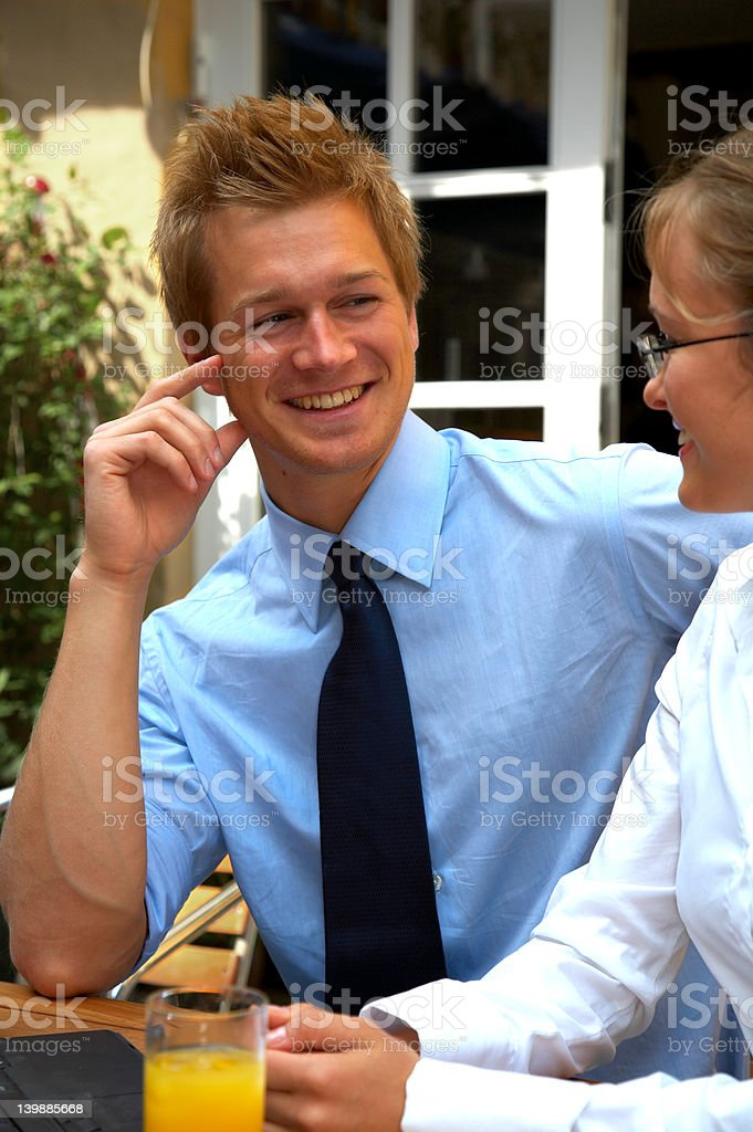 Young businessteam at a meeting royalty-free stock photo