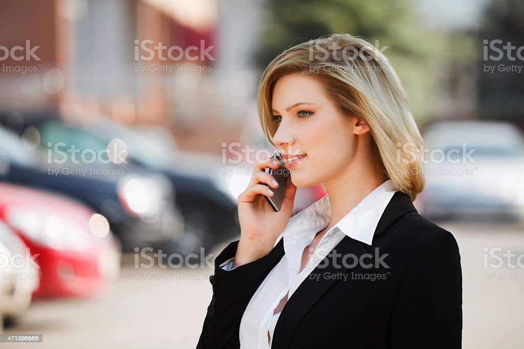 Young businesswoman calling on the phone royalty-free stock photo