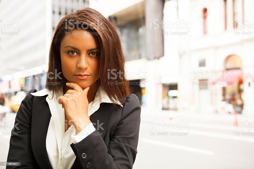 Young Businesswoman in the City royalty-free stock photo