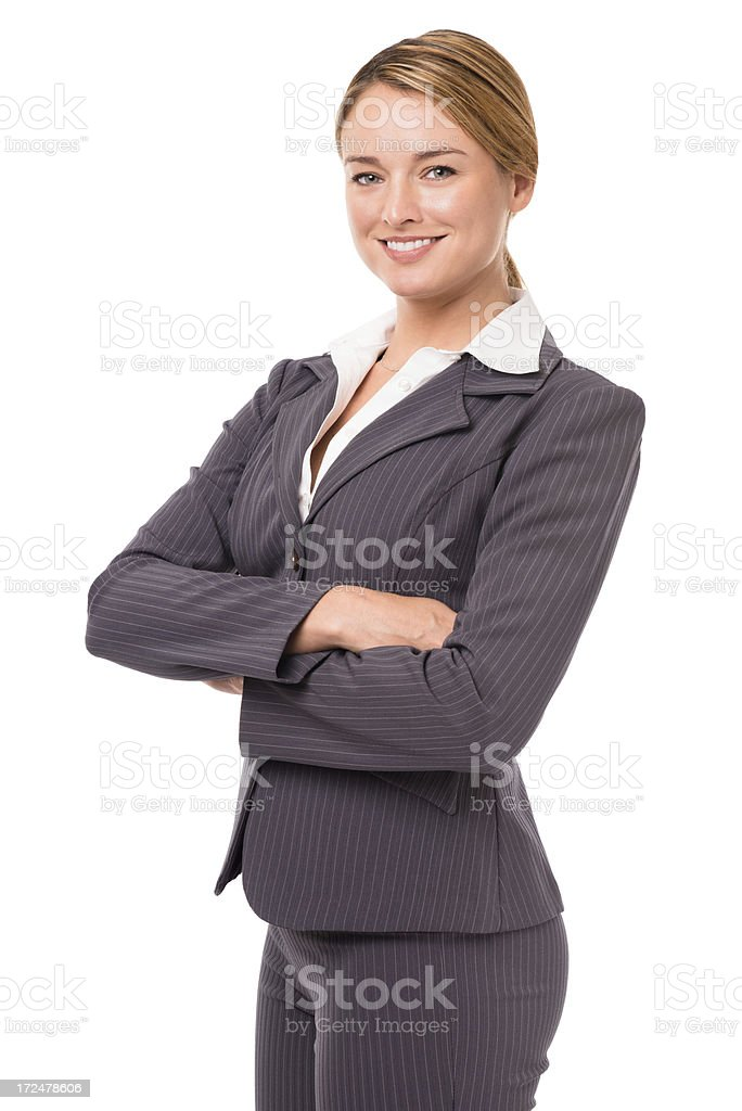 Young Businesswoman Isolated on White Background royalty-free stock photo
