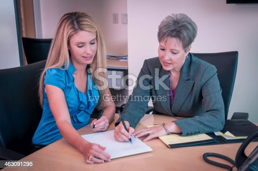 istock Young businesswoman mentored by the senior female executive - I 463091295