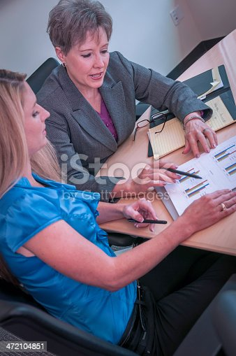 istock Young businesswoman mentored by the senior female executive - VII 472104851