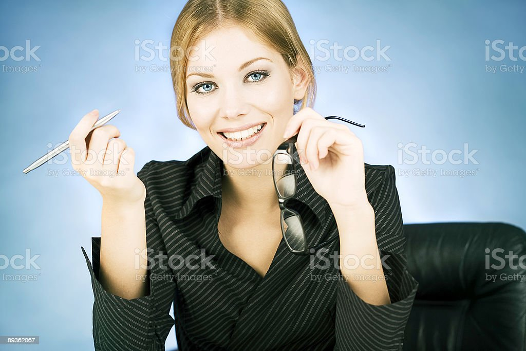 Young Businesswoman royalty free stockfoto