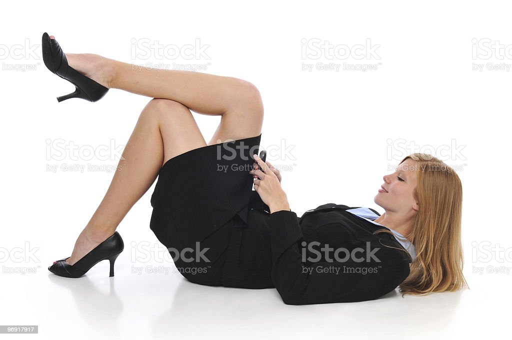 Young businesswoman text messaging royalty-free stock photo