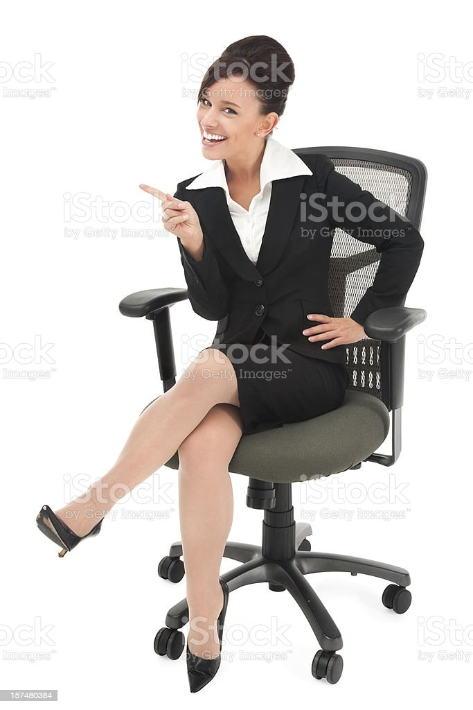 Young Businesswoman Wagging Her Finger royalty-free stock photo