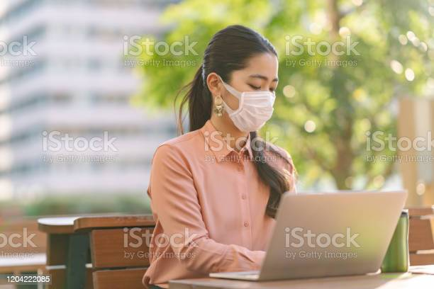 Young businesswoman wearing face mask in city picture id1204222085?b=1&k=6&m=1204222085&s=612x612&h=brrqez4 0gm0fgz4ho3g1nszso2qfrf5plp3jeeyt5q=