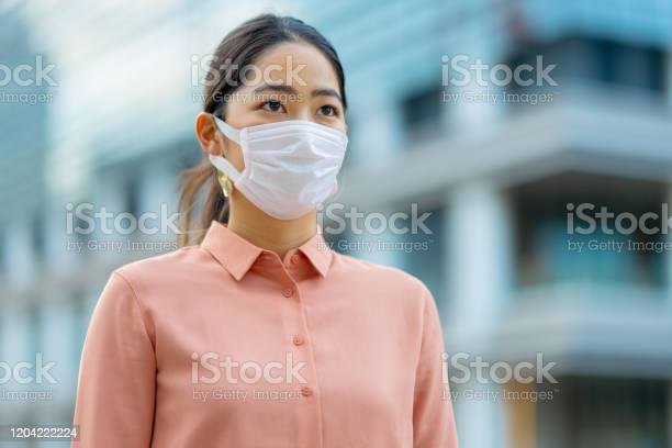 Young businesswoman wearing face mask in city picture id1204222224?b=1&k=6&m=1204222224&s=612x612&h=upkne7danv084fhl kezap1ymmqgsjenfstzd isats=