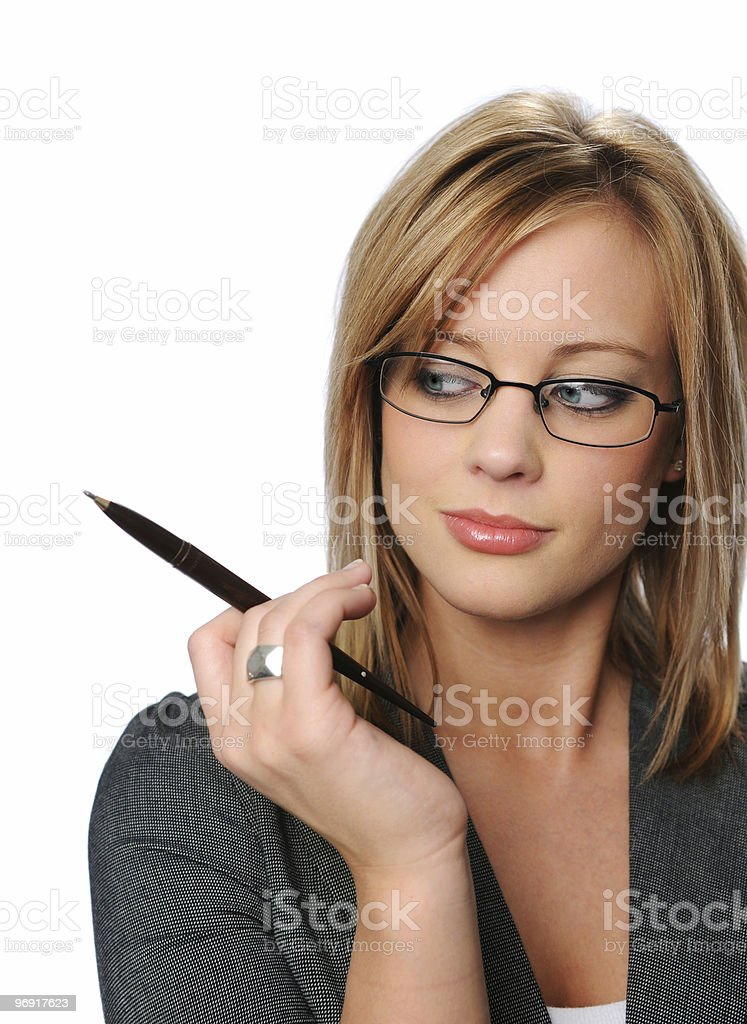Young Businesswoman with glasses royalty-free stock photo