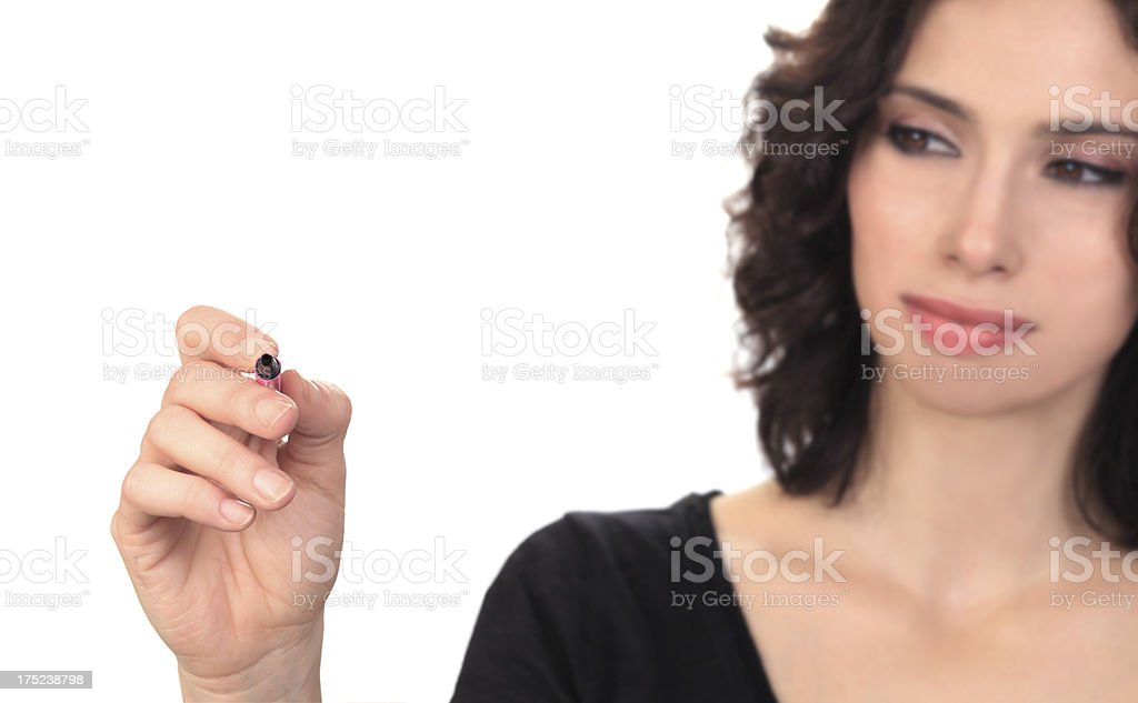 Young Businesswoman with Pen royalty-free stock photo