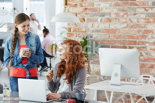 660311448 istock photo Young businesswoman working in agency 660311450