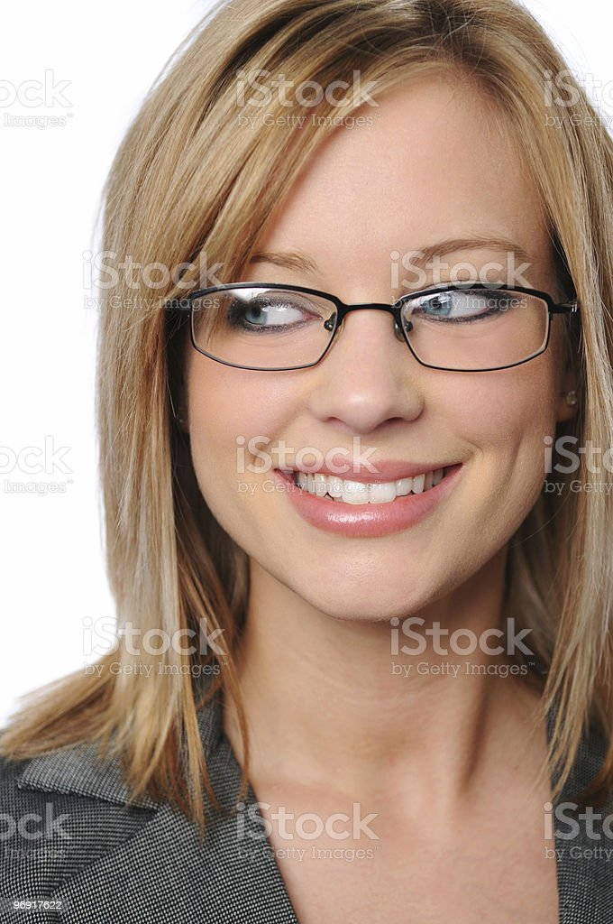 Young businesswoman's portrait royalty-free stock photo