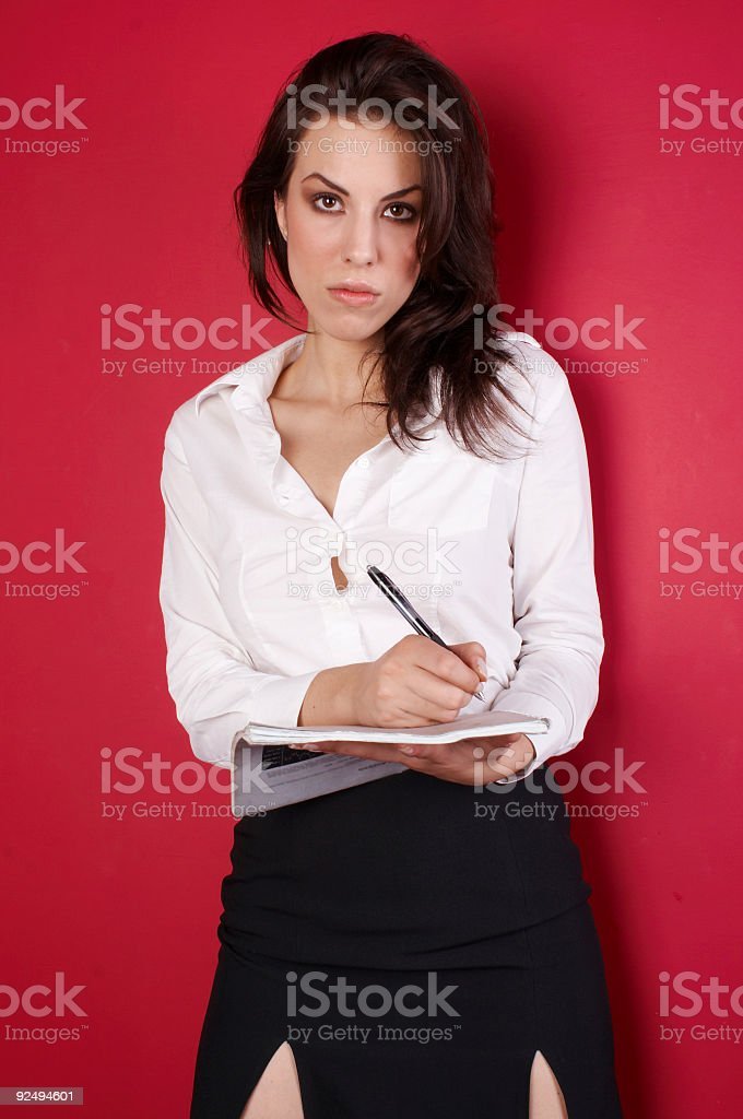 Young businesswoman-Taking Notes 03 royalty-free stock photo