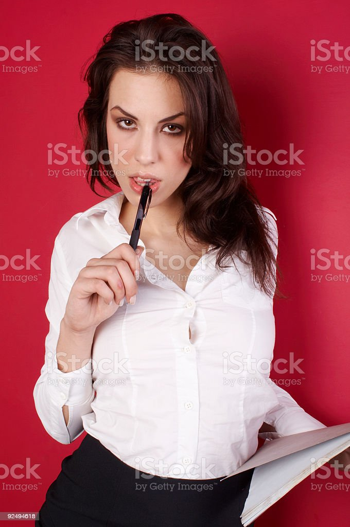 Young businesswoman-Taking Notes 05 royalty-free stock photo
