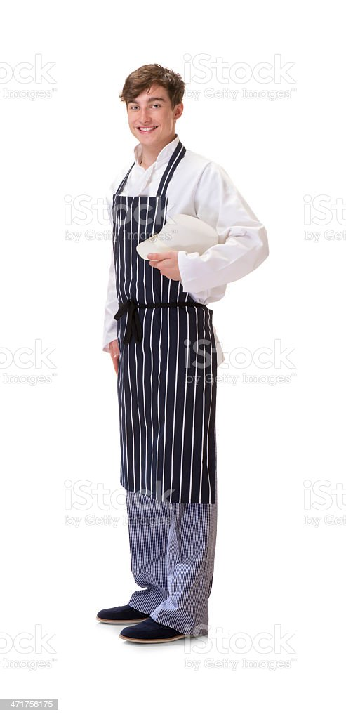 young butcher royalty-free stock photo