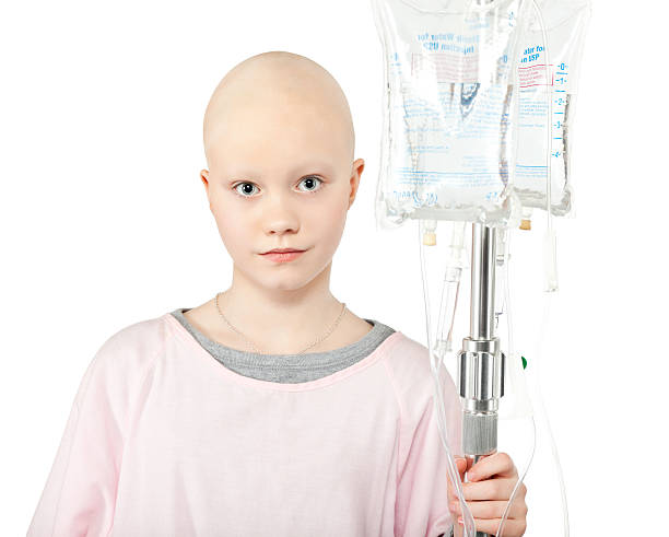 Young Cancer Patient (Isolated) http://i152.photobucket.com/albums/s173/ranplett/isolated-people.jpg saline drip stock pictures, royalty-free photos & images