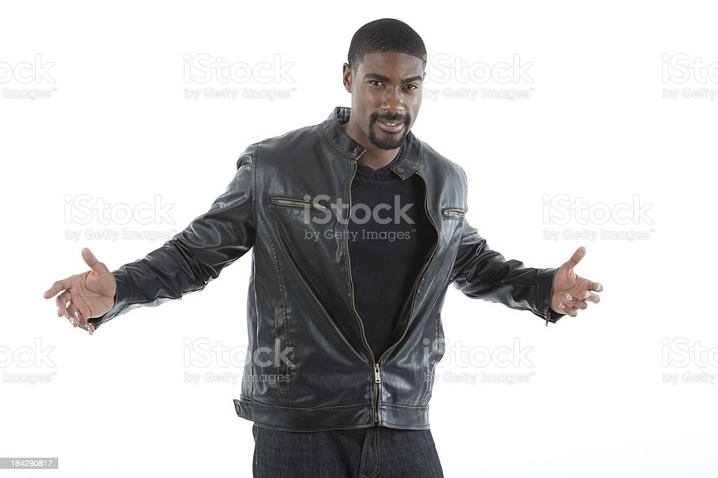 Young Casual Black Male stock photo
