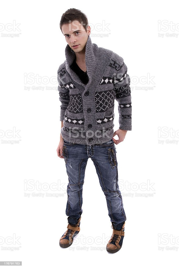 Young casual boy stock photo