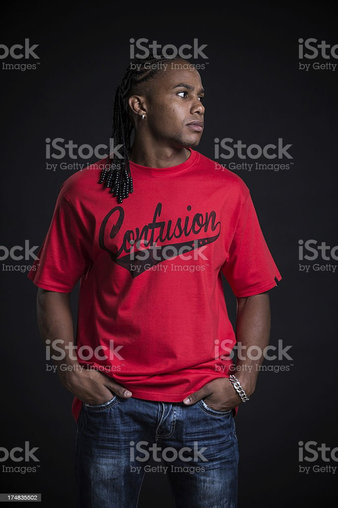 Young casual man portrait. royalty-free stock photo