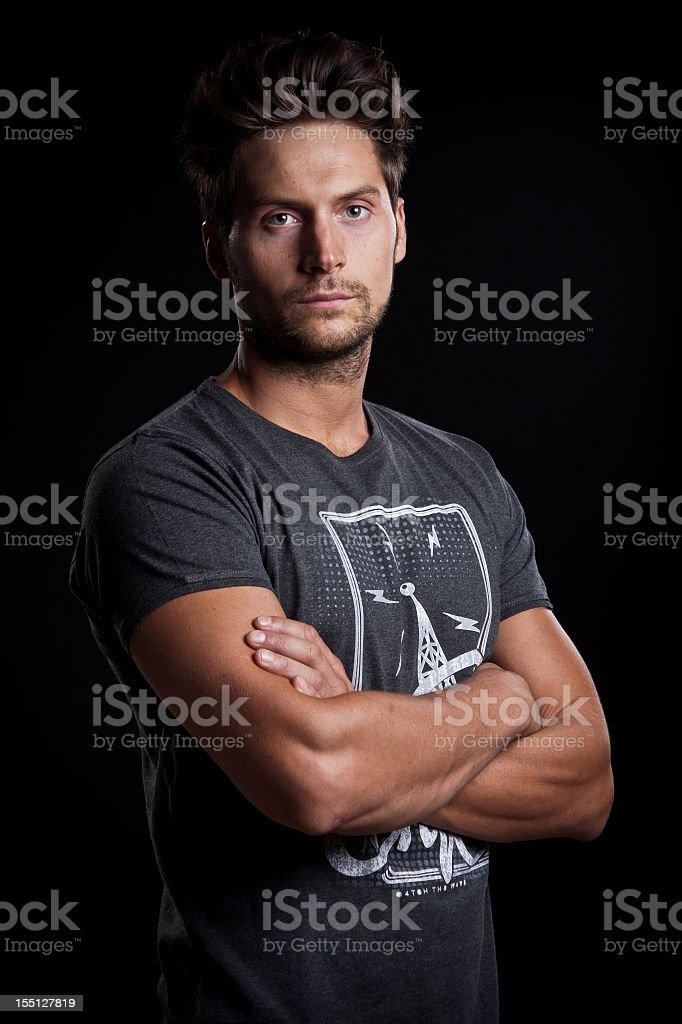 Young casual man posing. royalty-free stock photo