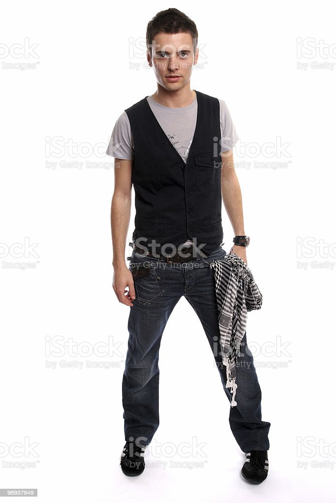 Young Casual man posing royalty-free stock photo