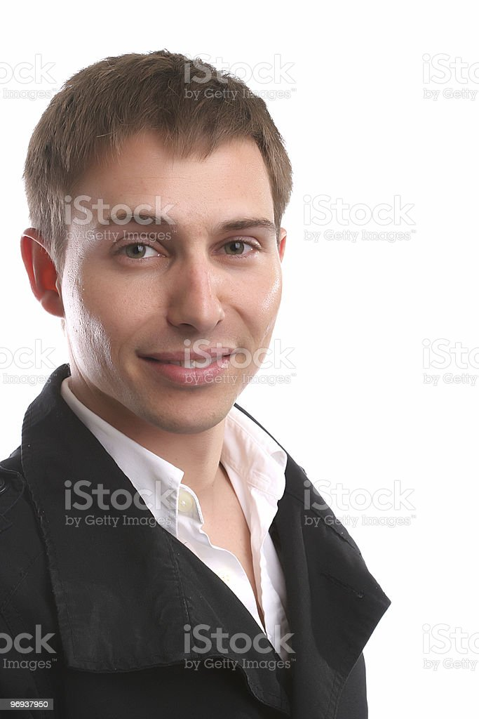 Young casual man, posing royalty-free stock photo