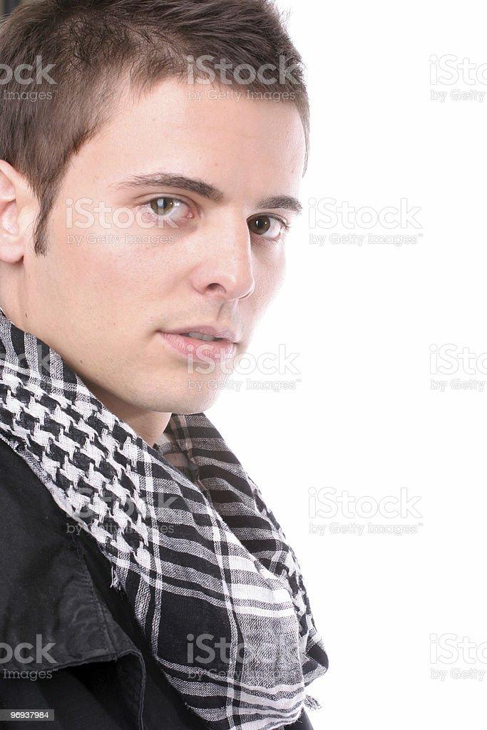 Young casual man posing royalty-free stock photo