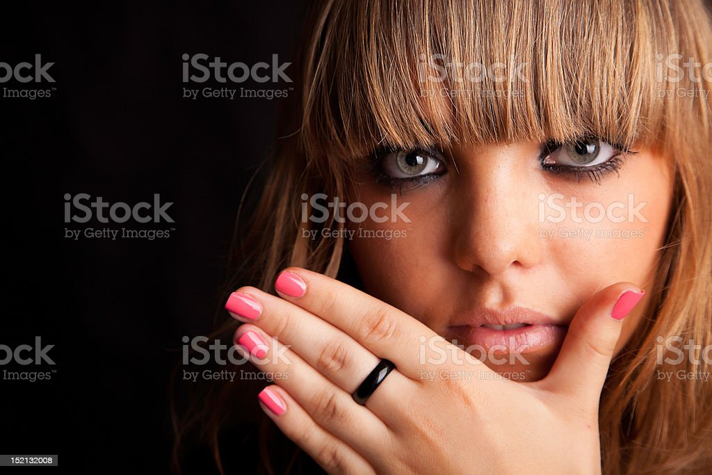 Young casual woman portrait stock photo