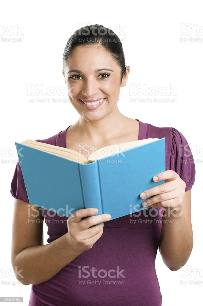 Young casual woman reading a book royalty-free stock photo