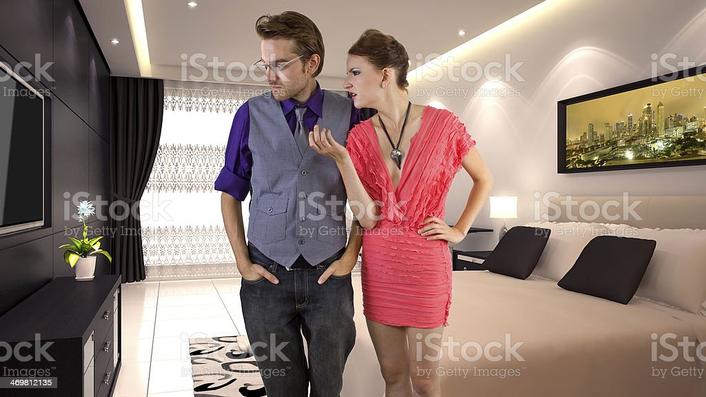 Young Caucasian Couple Having Relationship Problems stock photo