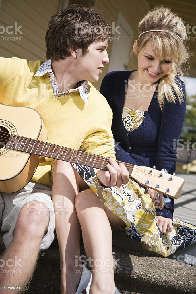 Young caucasian couple in love royalty-free stock photo